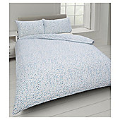 Basic Watercolour Polka Dot Duvet Set - Aqua