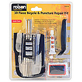 Rolson 30pc Bicycle & Puncture Repair Kit