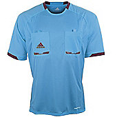 adidas Mens Blue Short Sleeved Formotion Referee Shirt Jersey - Blue