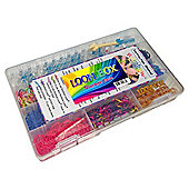 Deluxe Loom Box Equipment Case with Official Rainbow Loom Kit 3000+ Bands and Clips