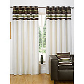 Dreams n Drapes Kendal Green 46x90 Eyelet Lined Eyelet Curtains