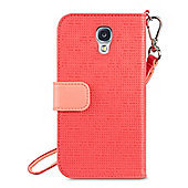 Belkin Wristlet Case Embossed/woven PU with magnetic tab and pockets for Samsung S4 in Sorbet