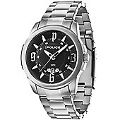Police Buckler Mens Stainless Steel Date Watch 14196JS-02M