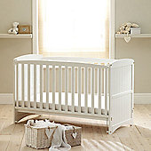 Saplings Amber Cot bed, White