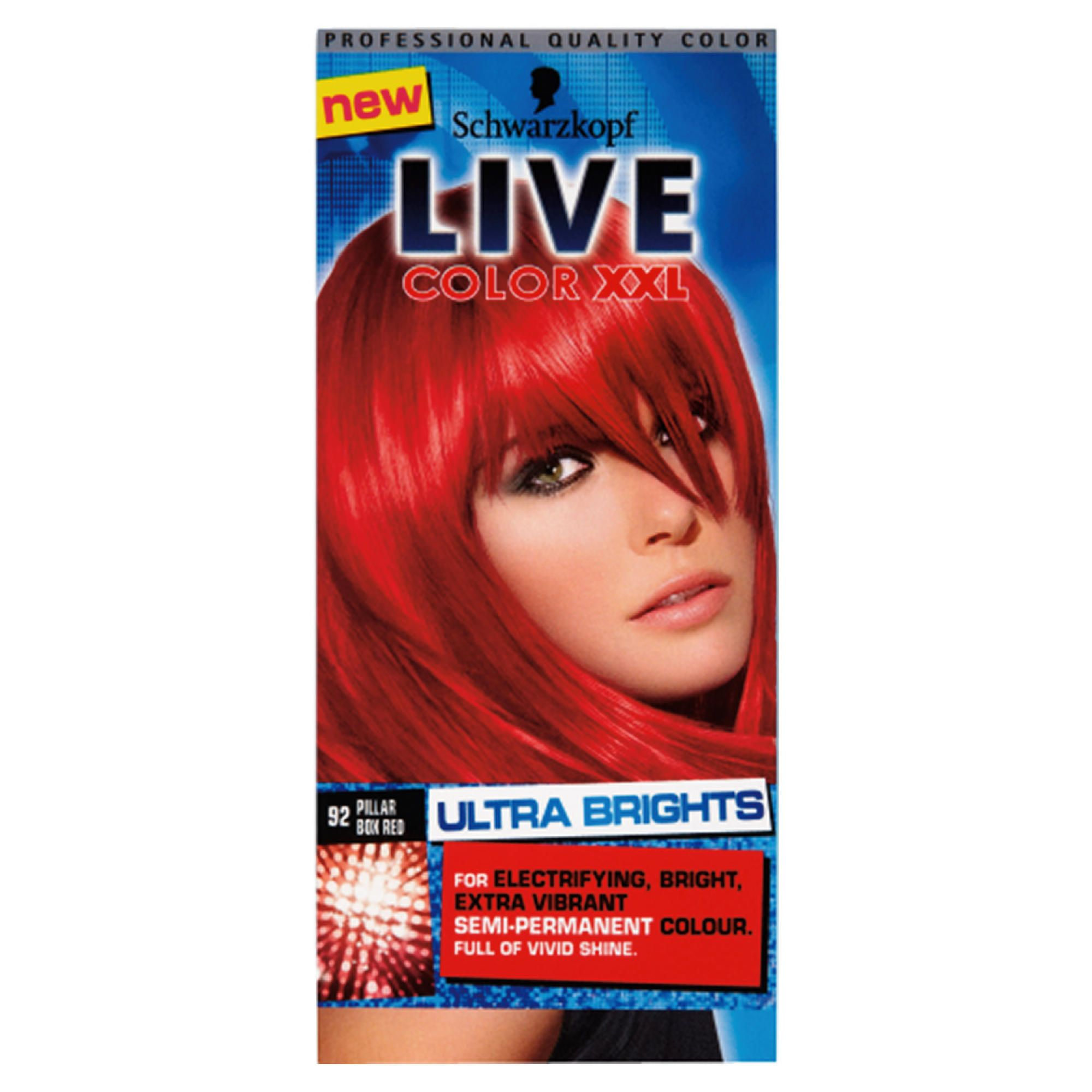 Schwarzkopf LIVE Color XXL Ultra Brights 92 Pillar Box Red