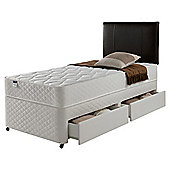 Silentnight Miracoil Comfort Micro Quilt 2 Drawer Divan, Single