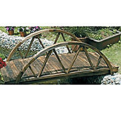 5 foot Ornamental Arched Garden Bridge - Burntwood