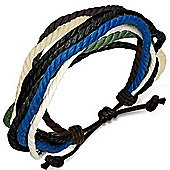 Urban Male Multi Coloured Surfer Style Cord Bracelet