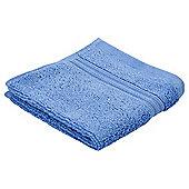 Tesco Hygro 100% Cotton Face Cloth, Cotton Blue