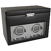 Wolf Designs Viceroy Module 2.7 Watch Winder with Cover and Storage - Double