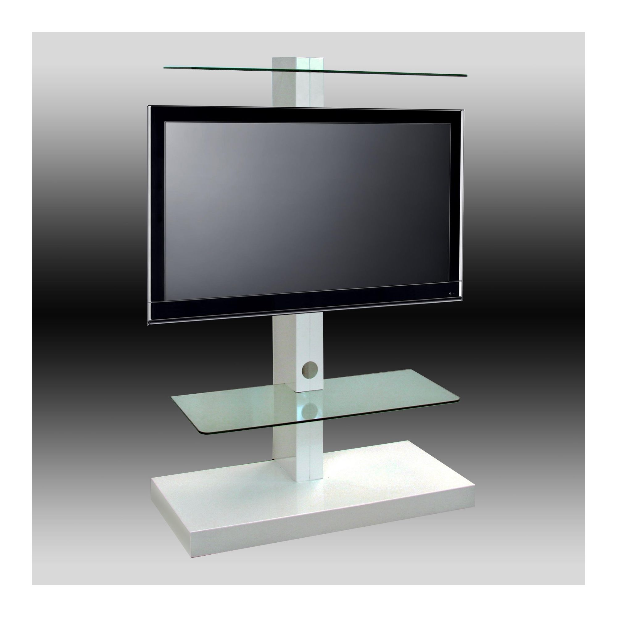 OMB Jolly Tower 2 TV Stand - White at Tesco Direct