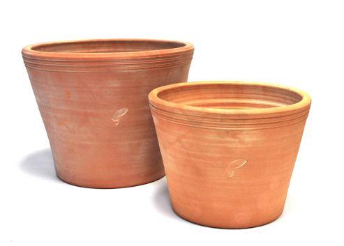 Kitchen garden terracotta pots