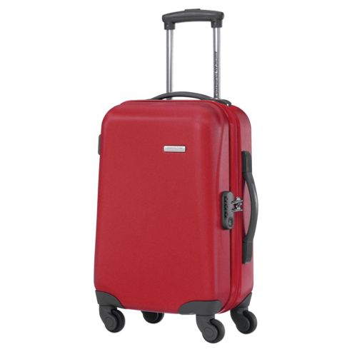 Samsonite American Tourister Jazz 4-Wheel Hard Shell Suitcase, Red Medium