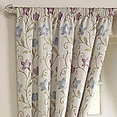 Rectella Canterbury Lavender Lined Pencil Pleat Tapestry Curtains - 168x274cm