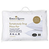 Kings & Queens Sumptuously Snug Pillow Pair
