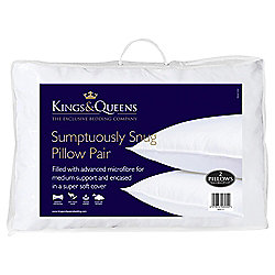 Kings & Queens Pillow Twinpack - Sumtuously Snug