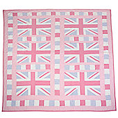 Woven Magic Union Jack Pink Crib Throw
