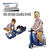 Skoot Kids Ride On Suitcase - Blue