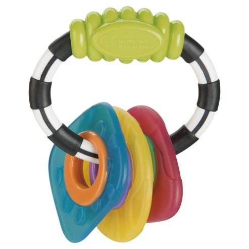 Tesco Loves Baby Ring Rattle Gummy teether