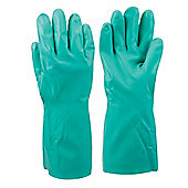 Silverline Nitrile Gauntlets Large
