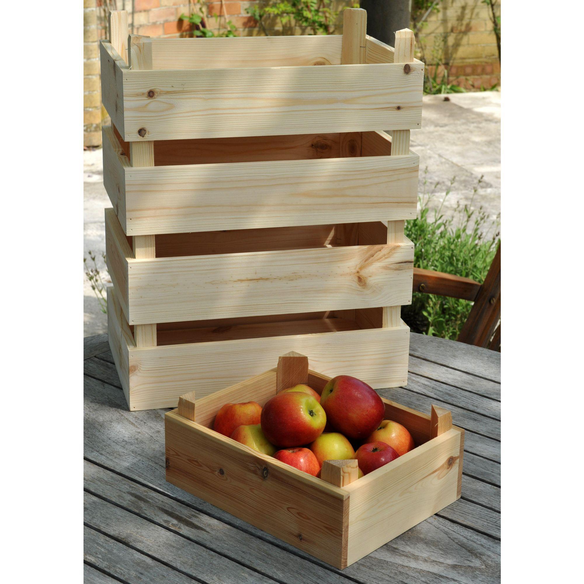 Pine storage box