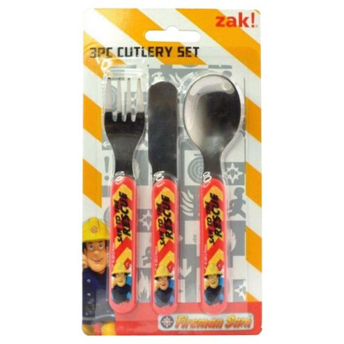 Fireman Sam Cutlery Set, 3-Piece