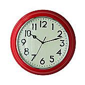 Premier Housewares Kitchen Wall Clock - Red