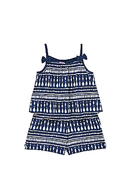 F&F Tie-Dye Print Playsuit - Blue