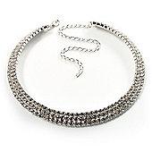 Swarovski Crystal Choker Necklace (Silver&Clear)