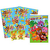 """Moshi Monsters Wrapping Paper, Birthday Card and Gift Tags Pack"""