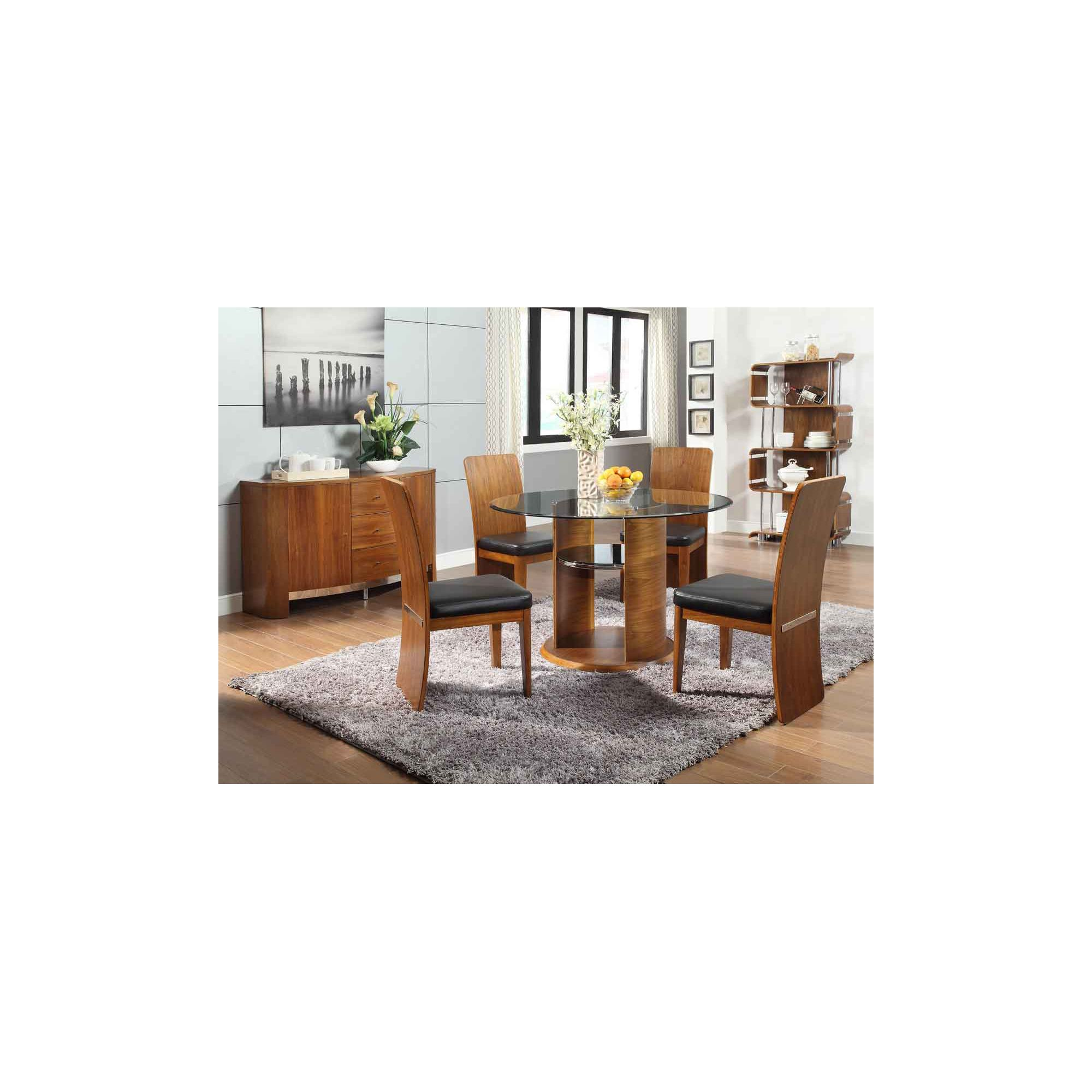 Other Jual JF603 Walnut Dining Table 4 Chairs and Sideboard