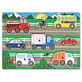 Melissa and Doug Peg Puzzle Vehicles