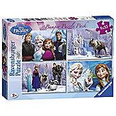 Disney Frozen Bumper Pack 4 x 35-Piece Jigsaw Puzzles