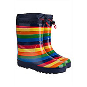 Rainbow Winter Junior Wellie - Blue