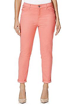 F&F Twill Skinny Trousers - Coral