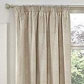 Julian Charles Hydrangea Natural Luxury Jacquard Pencil Pleat Curtain -168x183cm