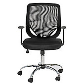 Alphason Atlanta Mesh Chair with Arms in Black
