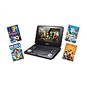 "Lava LD926 9"" Portable Car DVD Play with Fox Bundle in Black"