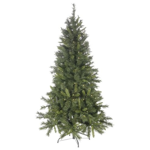 6ft Pre Lit Christmas Tree, Princess Gree Pine (120 white LEDs)