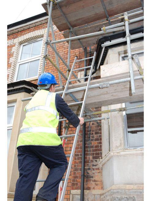 Heavy Duty 8.0m (26.2ft) Tuff Steel Single Pole Ladder
