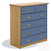Verona Verona 2 Over 4 Drawer Chest - Blue