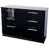 Altruna Chester 6 Drawer Chest - Black / Ash