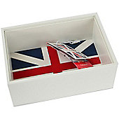 Ivory Union Jack Open Stacker Storage Box - Valet Tray