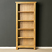 London Oak Slim Bookcase - Light Oak