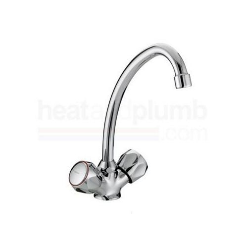 Bristan Value Club Single Flow Sink Mixer Tap Chrome Plated with Metal Heads