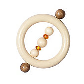 Heimess 735080 Wooden Ring Rattle (Amber)