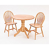 Origin Red Lingfield Rubberwood 3 Piece Dining Set - Natural
