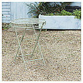 Ornate Metal Folding Bistro Table