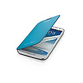 Samsung Original Galaxy Note 2 Flip Case Blue