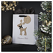 TESCO MEDIUM BAG GLITTERED REINDEER